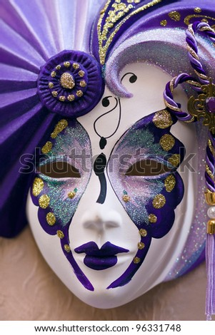 Venetian carnival mask - Venice, Venezia, Italy, Europe - stock photo