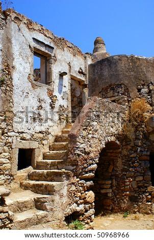 Venetian castle on Kythera island, Greece - stock photo