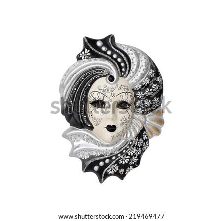 Venetian mask isolated on the white background - stock photo