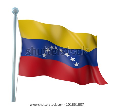 Venezuela Flag Detail Render - stock photo