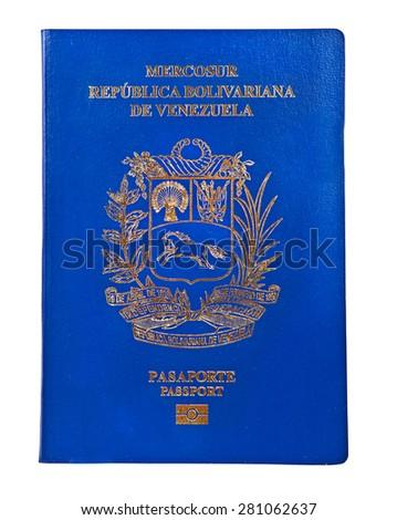 Venezuelan passport cover - stock photo
