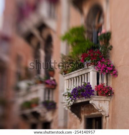 Venice: Balcony  - stock photo