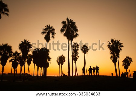 Venice Beach. Sunset. Summer concept California Los Angeles - stock photo