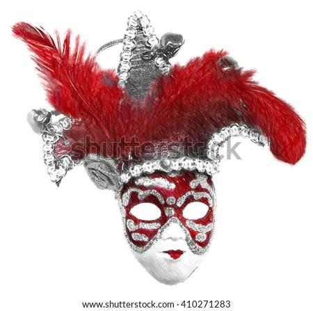 Venice carnival mask Illustration in draw, sketch style - stock photo