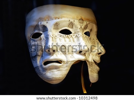 Venice carnival. Which way - stock photo