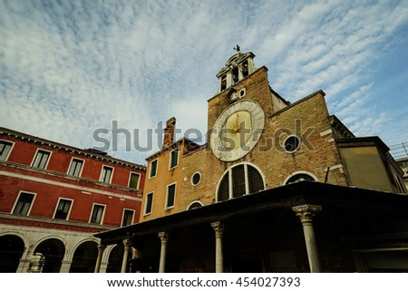 Venice cityscape, narrow water canal, bridge and traditional buildings. Italy, Europe. - stock photo