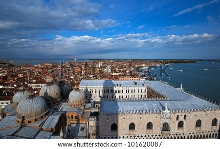 venice from above - stock photo