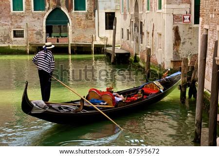 venice gondola - stock photo