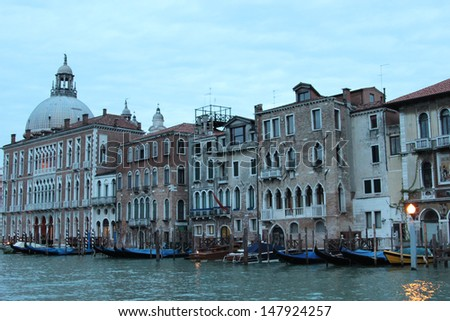 Venice, Italy at Dawn. View from the river.  - stock photo