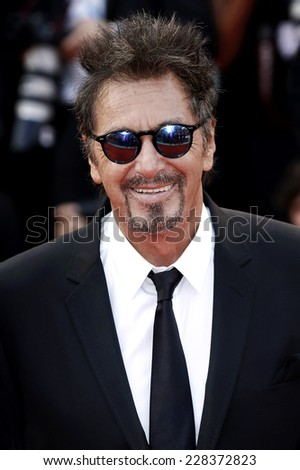 VENICE, ITALY - AUGUST 30: Al Pacino attends 'The Humbling' premiere during the 71st Venice Film Festival on August 29, 2014 in Venice, Italy.  - stock photo