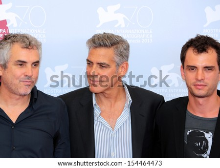 VENICE, ITALY - AUGUST 28: George Clooney attend 'Gravity' Photocall during the 70th Venice International Film Festival at the Casino Palace  on August 28, 2012 in Venice, Italy  - stock photo