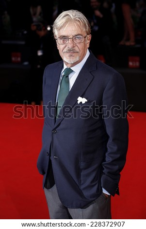 VENICE, ITALY - AUGUST 30: Giancarlo Giannini attends the 'Three Hearts' Premiere during the 71st Venice Film Festival on August 30, 2014 in Venice, Italy. - stock photo
