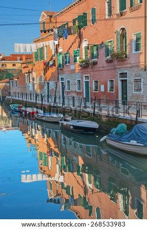 Venice, Italy, canal in Arsenale quarter - stock photo