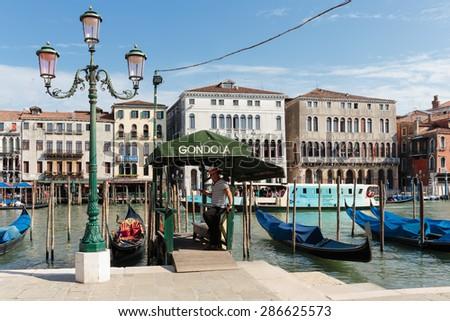 VENICE, ITALY - JUNE 26, 2014: Grand Canal in Venice Italy - stock photo