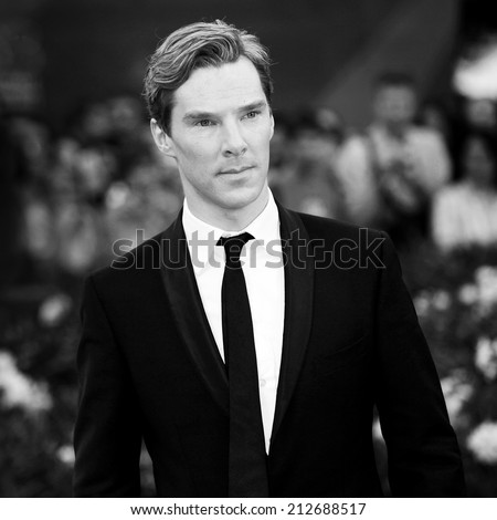 VENICE, ITALY - SEPTEMBER 05: Actor Benedict Cumberbatch attends the 'Tinker, Tailor, Soldier, Spy' premiere during the 68th Venice Film Festival on September 5, 2011 in Venice, Italy. - stock photo
