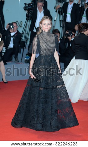 VENICE, ITALY - SEPTEMBER 12: Diane Kruger  during the 72th Venice Film Festival 2015 in Venice, Italy - stock photo