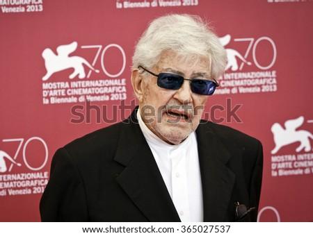 VENICE, ITALY - SEPTEMBER 06: Ettore Scola attends 'Che Strano Chiamarsi Federico - Scola Racconta Fellini' Photocall during the 70th Venice Festival at Palazzo on September 6, 2013 in Venice, Italy. - stock photo