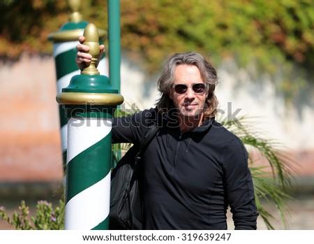 VENICE, ITALY - SEPTEMBER 07: Rick Springfield during the 72th Venice Film Festival 2015 in Venice, Italy - stock photo