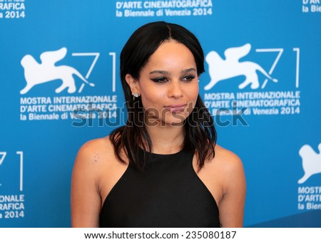 VENICE, ITALY - SEPTEMBER 05: Zoe Kravitz attends 'The Sound And The Fury' Photocall during the 71st Venice Film Festival at Sala Grande on September 05, 2014 in Venice, Italy  - stock photo