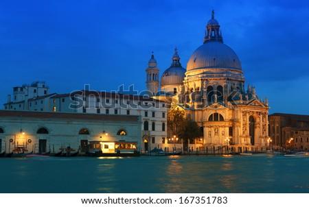 Venice Salute at sunset, Italy - stock photo