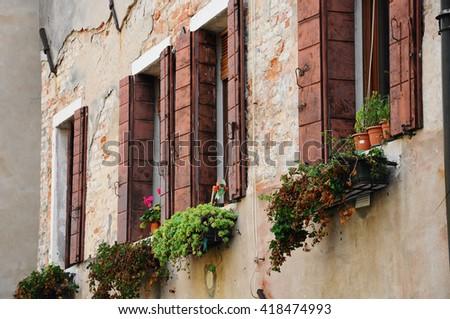 Venice,Street in Venice,building in Venice. - stock photo