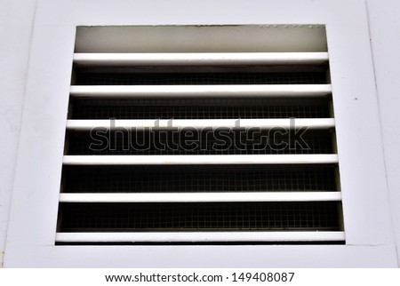Vent on the wall - stock photo