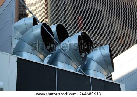 ventilation pipe - stock photo