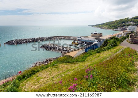 Ventnor Isle of Wight south coast of the island tourist town - stock photo