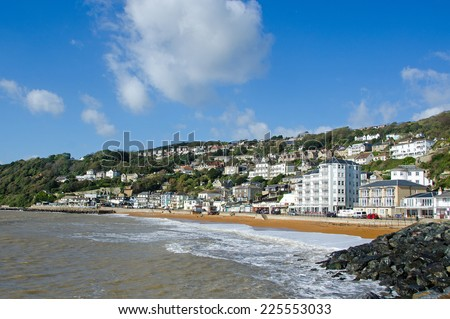 Ventnor seafront, Isle of Wight, UK. - stock photo
