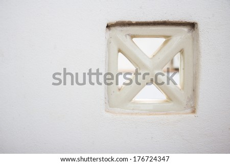 Vents on the white wall. - stock photo