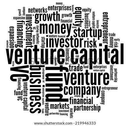 Venture Capital in word collage - stock photo