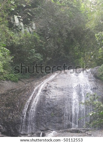 Venus Falls at St Lucia in the Caribbean - stock photo