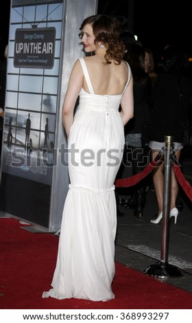"""Vera Farmiga at the Los Angeles Premiere of """"Up In The Air"""" held at the Mann Village Theater in Westwood, California, United States on November 30, 2009.   - stock photo"""