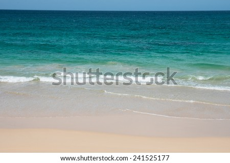 Verandinha beach Praia de Verandinha  in Boavista Cape Verde - Cabo Verde - stock photo