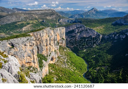 Verdon Canyon in the south of France in Provence - stock photo