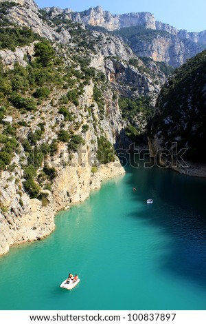 Verdon gorges entry, Provence, France - stock photo