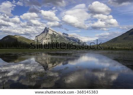 Vermilion Lake. Banff National Park. Canada - stock photo