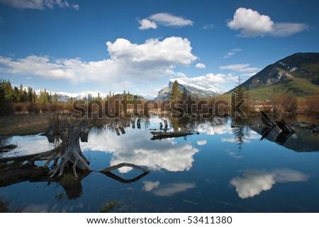 Vermillion Lakes, Banff, Alberta, Canada - stock photo