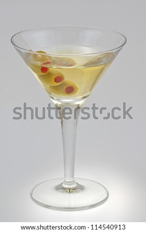 vermouth  isolated on a white background - stock photo