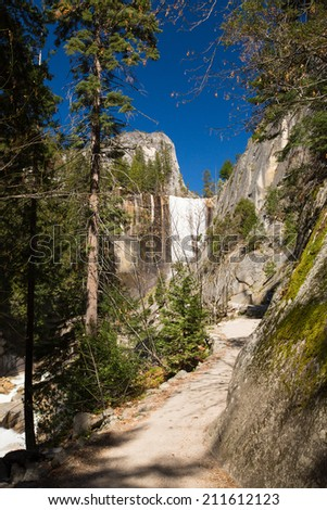 Vernal Fall in Yosemite National Park - stock photo
