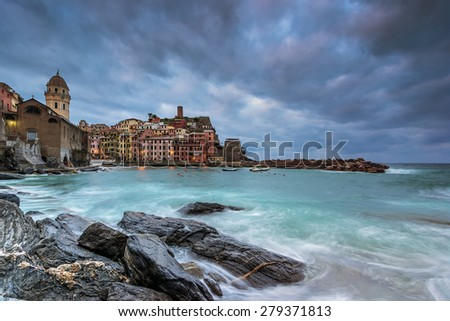 Vernazza in Liguria Iyaly - stock photo