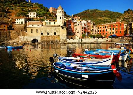 Vernazza Village, Cinque Terre, Italy - stock photo