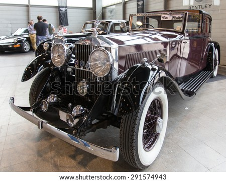 VERONA, ITALY - MAY 9: The municipality of Verona organizes a free gathering of sports and antique cars in Verona on Saturday, May 9, 2015.