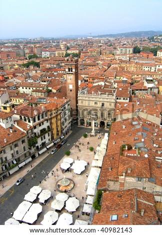 Verona panoramic view, Italy - stock photo