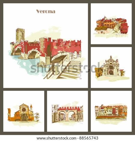 Verona - the city of Romeo and Juliet. Italy - stock photo