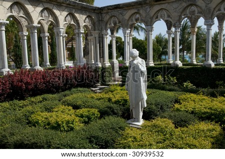 Versailles Garden on the Paradise Island, the Bahamas - stock photo