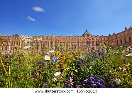 Versailles palace, France in summer. - stock photo