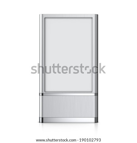 Vertical blank billboard - stock photo