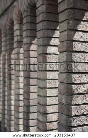 Vertical brick column  - stock photo