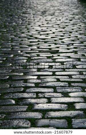 vertical brick pave backgorund - stock photo